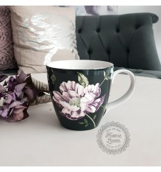 Greengate Becher mit Henkel 'Penelope' dark grey