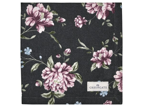 Greengate Stoffserviette 'Penelope' dark grey