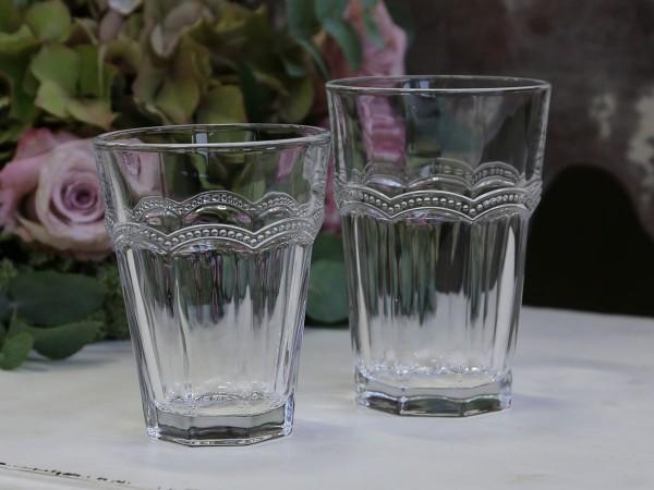 Wasserglas Latte Macchiato 'Antoinette' 8,5 x 12,5