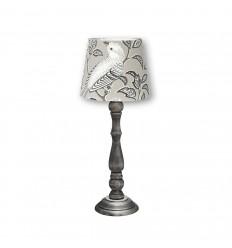 Tischlampe 'Birdsong' grau Höhe 47 cm