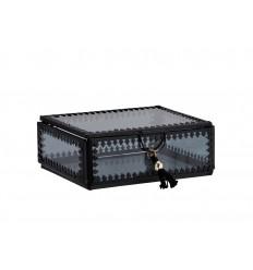 Glasbox Schmuckdose schwarz