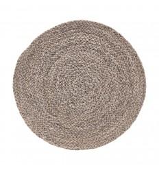 4er Tischset Platzdeckchen 'Circle' nude braun