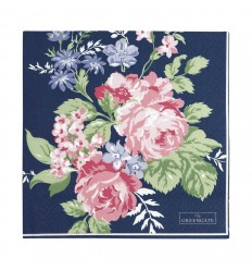 Greengate Papier-Servietten 'Rose' dark blue