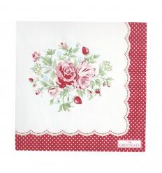 Greengate Papier-Servietten 'Mary' white