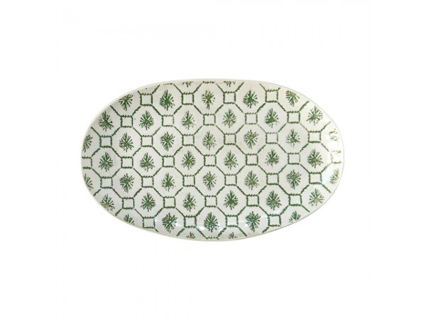 Servierplatte Schale 'Gatherings' 20 x 12,5 cm grün Geometriemuster
