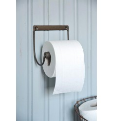 Toilettenpapierhalter braun mit Patina