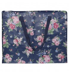 Greengate Aufbewahrungstasche Einkaufstasche 'Rose dark blue'