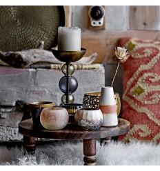 Vase weiß/terrakotta
