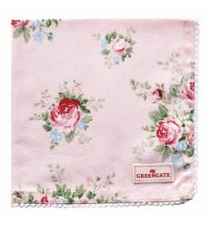 Greengate Stoffserviette mit Spitze 'Aurelia pale pink'