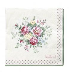 Greengate Papier-Servietten 'Aurelia white'