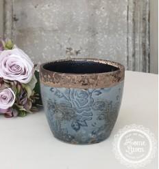 Blumentopf Übertopf 'Vinay' klein