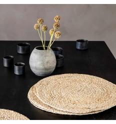 4er Tischset Platzset 'Circle' natur