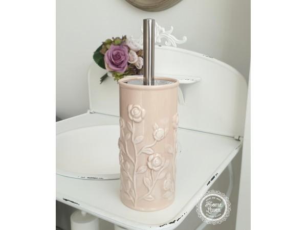 WC-Bürstengarnitur 'Rosen' puderpeach