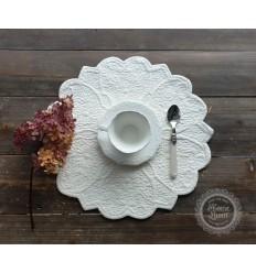 Tischset Platzdeckchen weiß