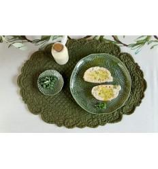 Platzset Tischset olivgrün oval