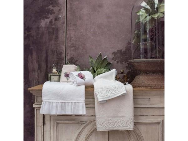 Handtuch Set 30x50 + 50x90  weiß