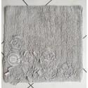 Badteppich mit Volant-Rosen grau 50x50