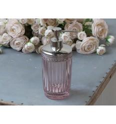Seifenspender mit Perlenkante rosa