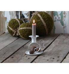 Chic Antique Kerzenhalter Kammerleuchter Shabby weiß