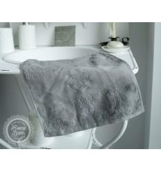 Handtuch 'Broderie' grau