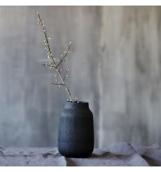 Vase Groove schwarz