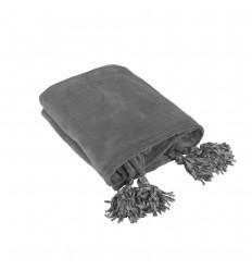 Kuscheldecke mit Quasten 'NOAH' 130x150 cm graubeige