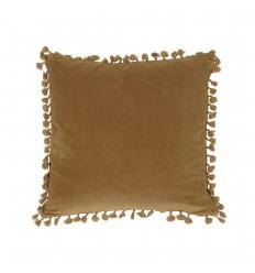 Kissenbezug 'Frans' Samt 45x45 dunkel safrangelb