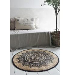 Teppich Boho Ø 90 cm aus Jute
