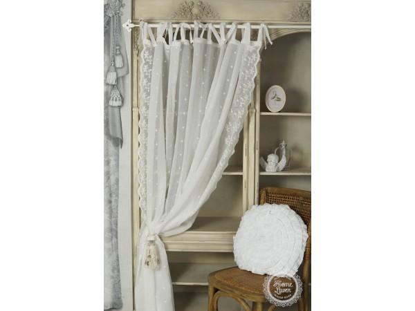 Gardinenschal 'Vintage' offwhite 200 x 250 cm