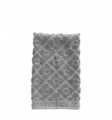 Handtuch 'Floral' 30x50 cm grau