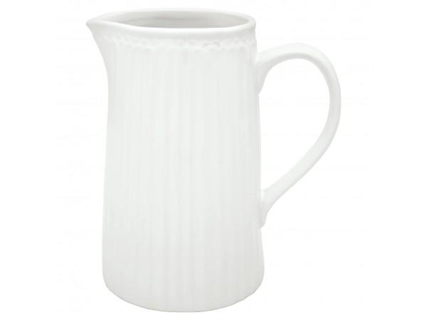 GreenGate Milchkanne Wasserkrug 'Alice white'