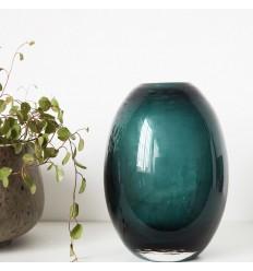 House Doctor Glasvase 'Ball' grün-blau/B-Ware