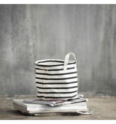 House Doctor Aufbewahrungskorb 'Stripes' H 20 cm