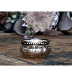 Chic Antique Teelichthalter in Kürbisform Champagner