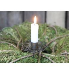 Chic Antique Kerzenhalter mit Spieß antik Messing