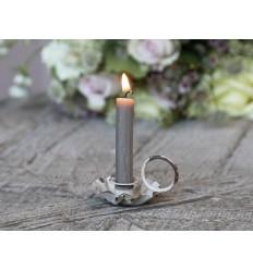 Chic Antique Kerzenhalter Kammerleuchter in antik creme