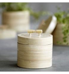 House Doctor Aufbewahrung mit Deckel, Bamboo, Natur