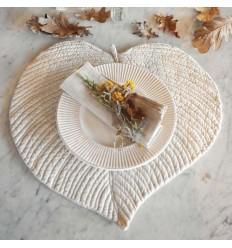 Platzset Tischset 'Leaf' creme-beige