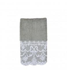Handtuch 'Dentelle Aquarelle' 30x50 cm grau