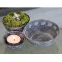 Teelichthalter Schale 3er Set