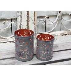 Laterne Teelichthalter 'Eule'