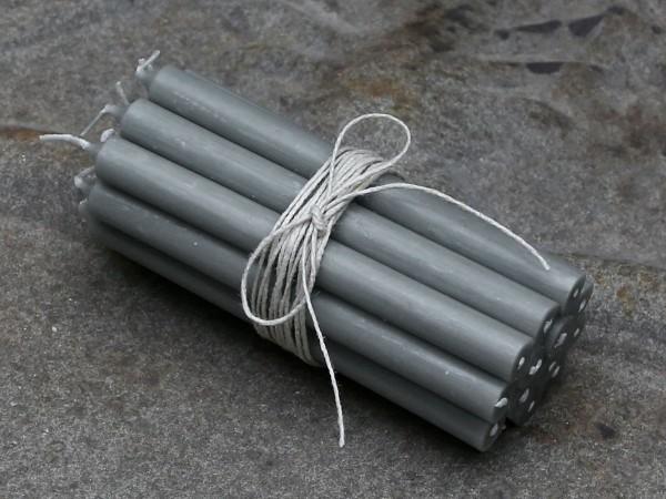 Mini Stabkerzen 10er Set grau