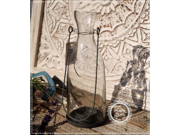 Windlicht/Teelichtglas mit Bügel