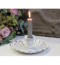 Chic Antique Kerzenhalter Kammerleuchter weiß