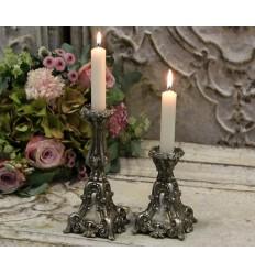 Chic Antique Kerzenständer in altsilber