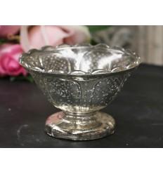 Chic Antique Teelichthalter Schale auf Fuß