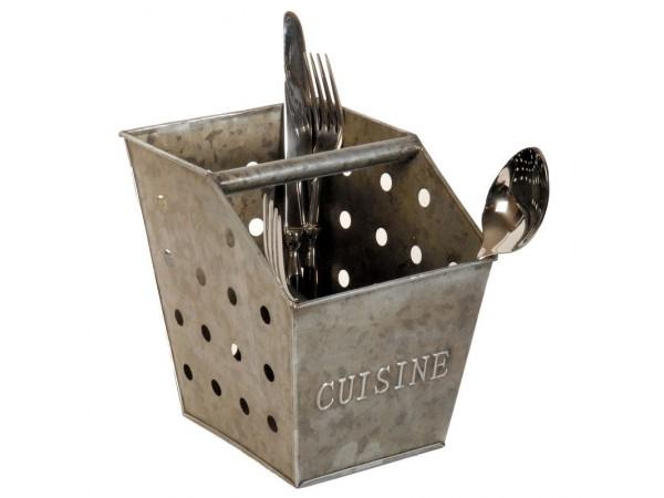 Besteckkorb  aus Zink 'CUISINE'