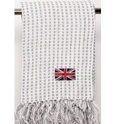 Plaid / Wohndecke 'UK' in creme-weiß