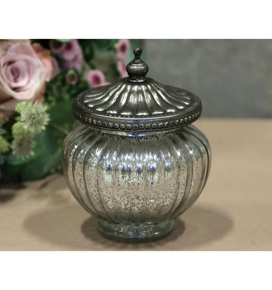 glas mit perlenkante aufbewahrung dosen https www. Black Bedroom Furniture Sets. Home Design Ideas