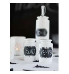 Salz- & Pfefferstreuer Set mit Kreidefläche